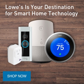Lowe's is your destination for smart home technology.