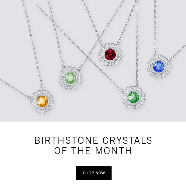 Birthstone crystals of the month
