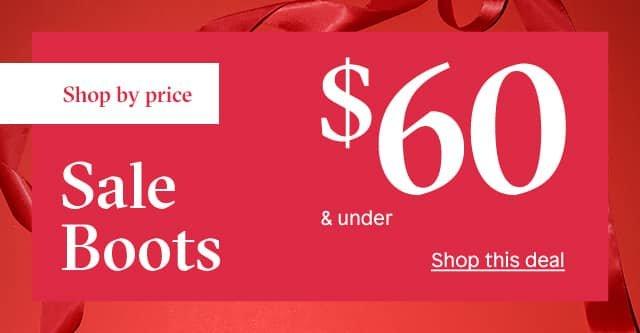 60$ sale boots sub