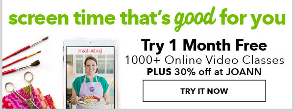 Screen Time That's Good For You. Try 1 month FREE. Over 1000 online video classes plus 30% off at JOANN. TRY IT NOW.
