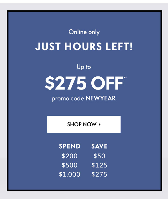 Up to $275 off
