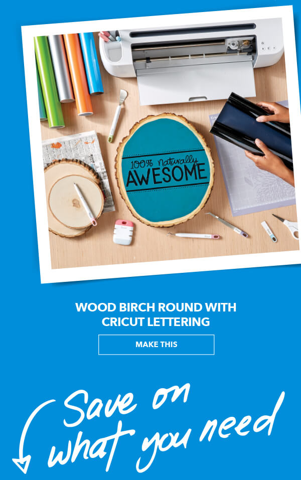 We Love This Idea! Wood Burch Round with Cricut Lettering. MAKE THIS.