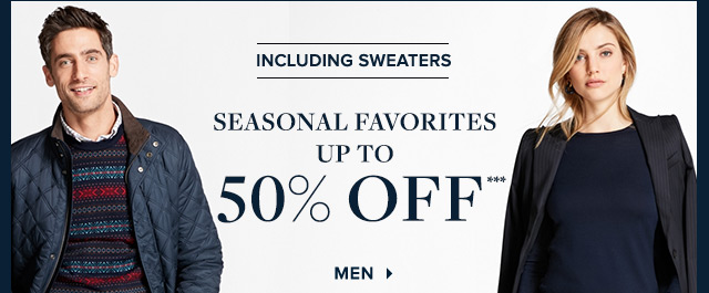 SEASONAL FAVORITES | SHOP MEN