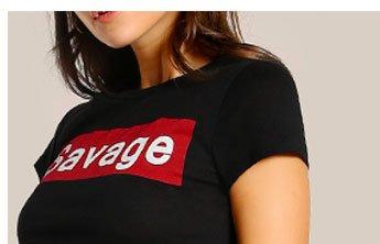 c2e2d8e4b8a0e SHEIN Savage Print Cap Sleeve Crop Top ...