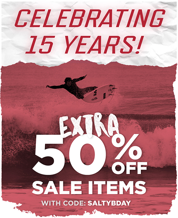 Celebrating 15 Years with an extra 50% off Sale