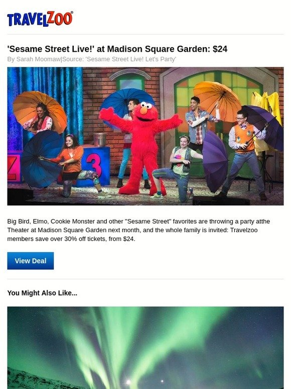 Travelzoo: U0027Sesame Street Live!u0027 At Madison Square Garden: $24 | Milled