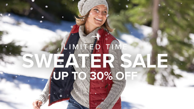 - LIMITED TIME -  SWEATER SALE UP TO 30% OFF