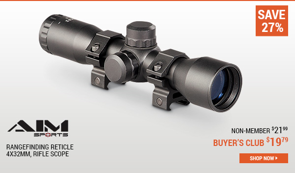 AIM Sports, 4x32mm, Rangefinding Reticle, Rifle Scope
