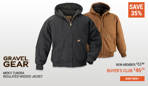 Gravel Gear Men's Tundra Insulated Hooded Jacket