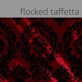 Flocked Taffetta