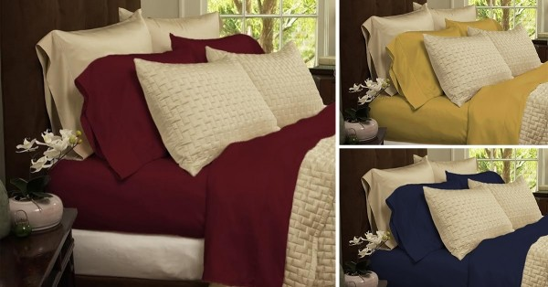 Ultra Soft 1800 Series Bamboo Fiber Bed Sheets   4 Pc Set   18 Colors