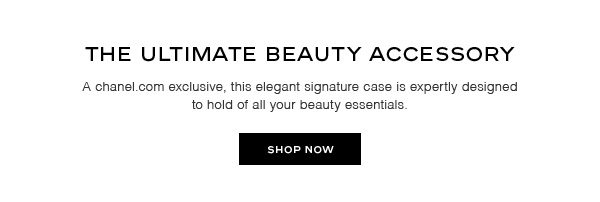 A chanel.com exclusive, this elegant signature case is expertly designed to hold of all your beauty essentials. SHOP NOW