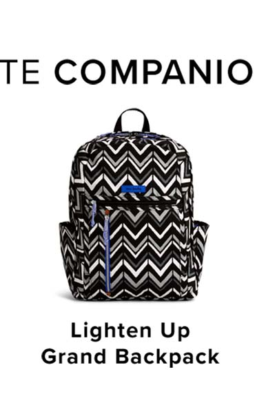 Lighten Up Grand Backpack in Lotus Chevron