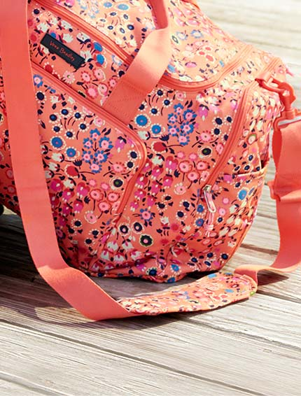 Lighten Up Ultimate Gym Bag in Coral Meadow