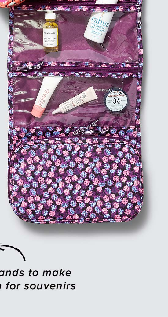 Lighten Up Hanging Travel Organizer in Berry Burst