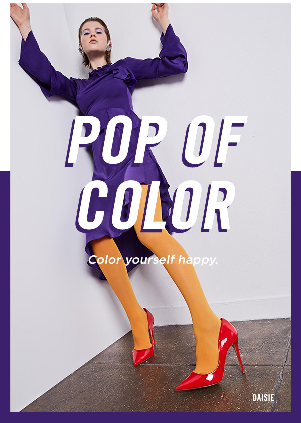 Pop of Color: color yourself happy