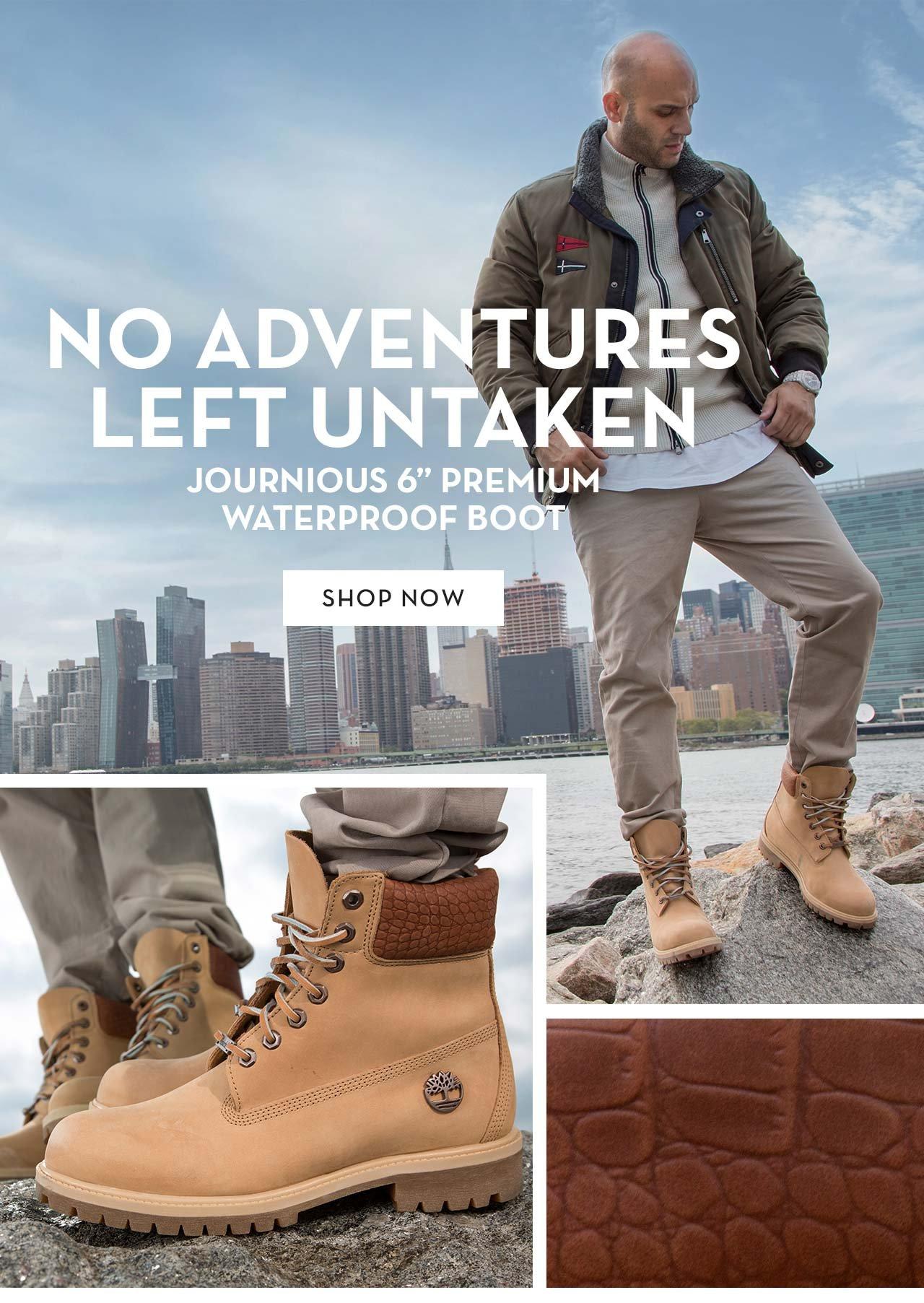 """No Adventures Left Untaken Journious 6"""" Premium Waterproof Boot Shop Now"""