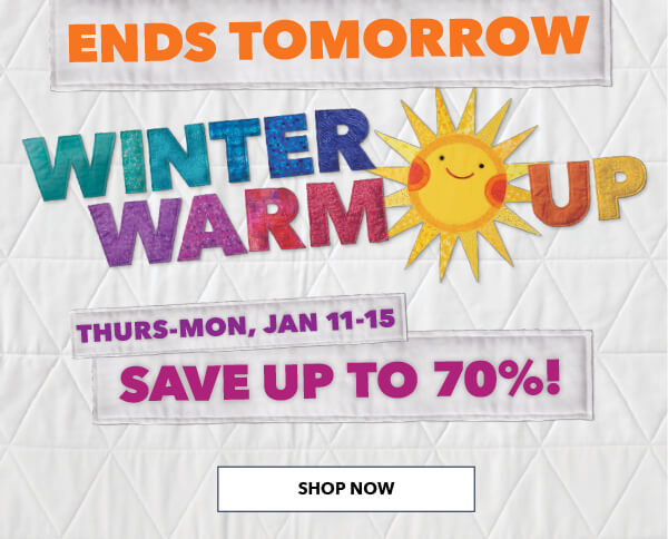 Ends Tomorrow! Winter Warm Up. Save up to 70%. SHOP NOW.