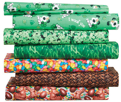 Easter and Saint Patrick's Fabrics.