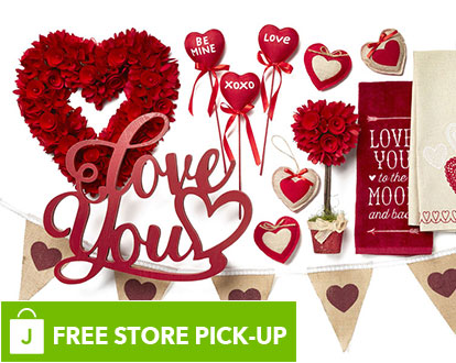 Valentine Decor. FREE In-Store Pick-Up.