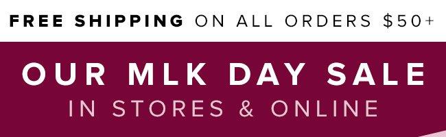 MLK Day Sale