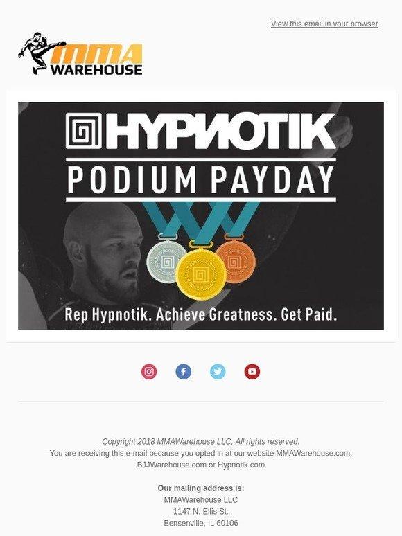 MMA Warehouse: Podium Payday - Rep Hypnotik  Achieve