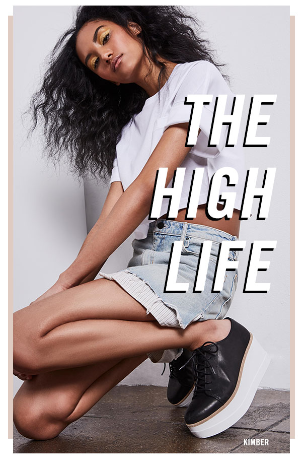 THE HIGH LIFE: The higher the platform, the closer to Steve.