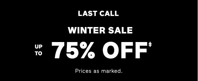 WINTER SALE | 75% OFF