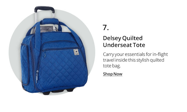 Delsey Quilted Underseat Tote