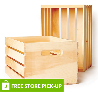 Ready-to-Decorate Premium Wood Crate.