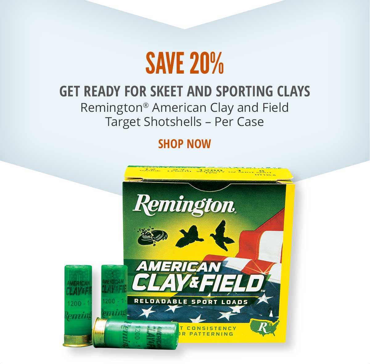 Save 20% and Get Ready for Skeet and Sporting Clays