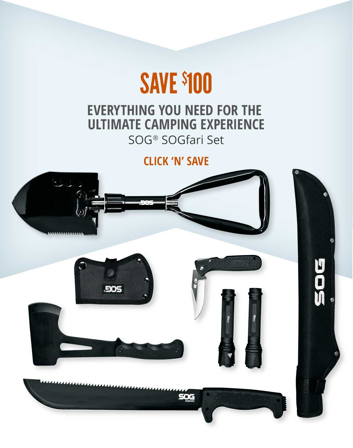 Save $100 on SOG SOGfari Set