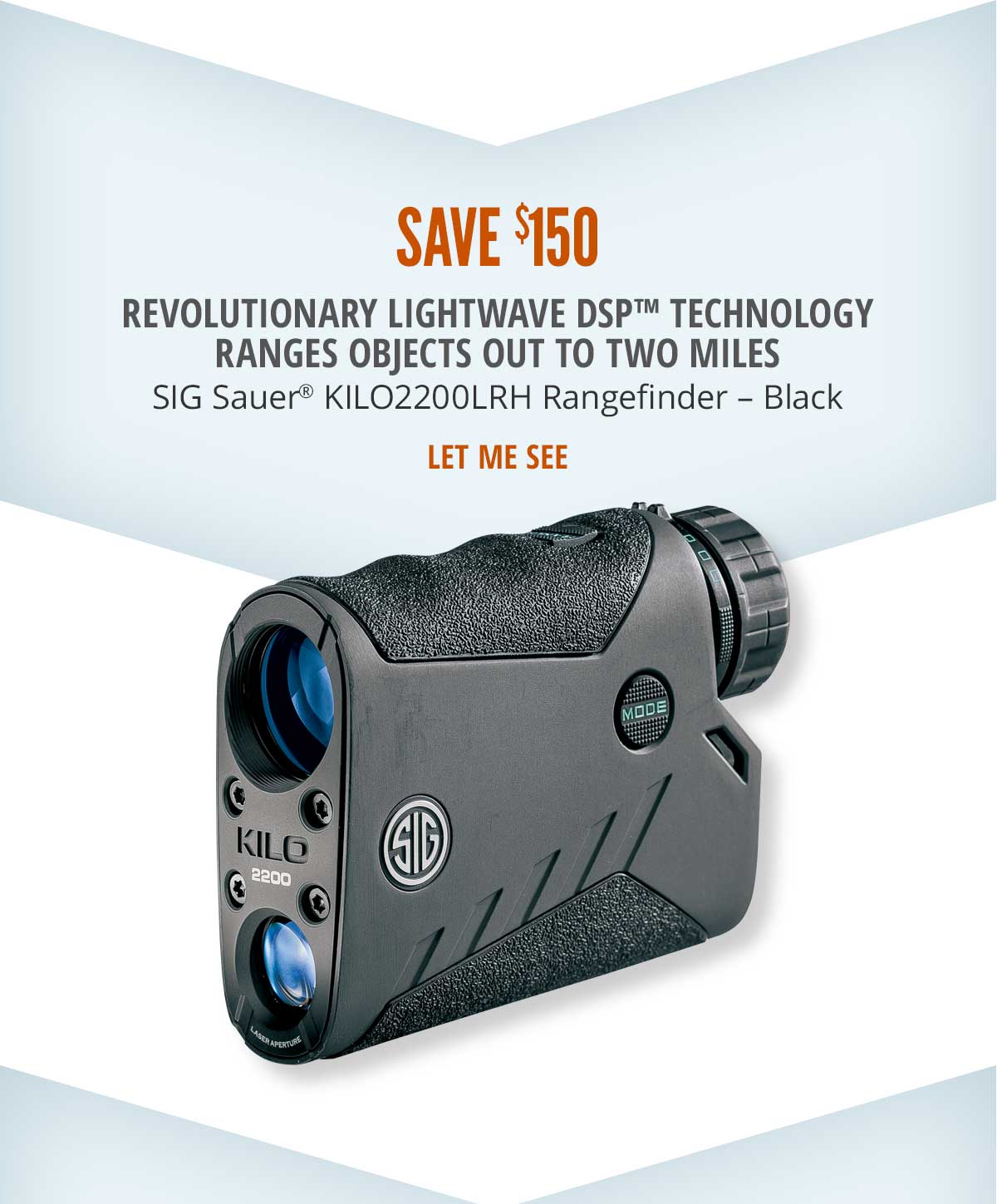 Save $150 on SIG Sauer KILO2200LRH Rangefinder - Black