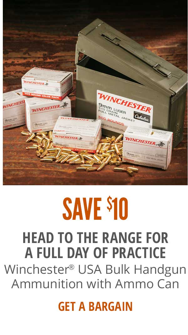 Save $10 on Winchester USA Bulk Handgun Ammunition with Ammo Can