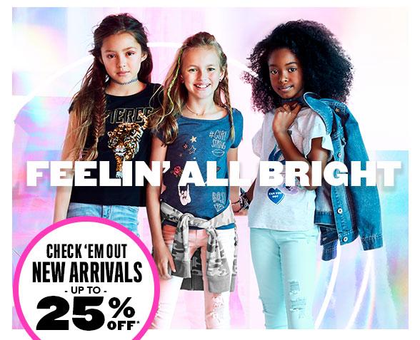 New Arrivals Up To 25% Off