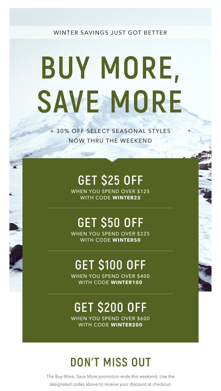 tasc Performance: Winter Savings Just Got Better | Milled