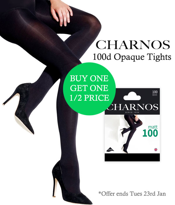 e15286325ef UK Tights  Buy 1 Get 1 Half Price Charnos 100d Opaque Tights.