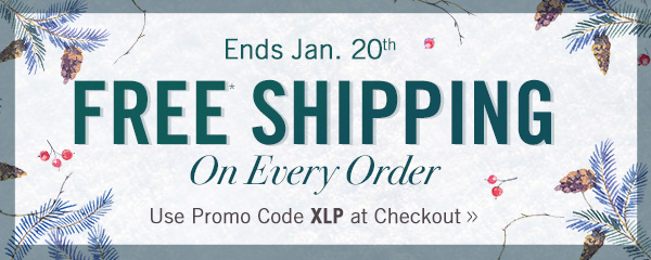 FREE SHIPPING on every order!