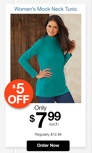 Essential Knit Mock Neck Tunic