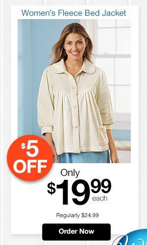 Women's Fleece Bed Jacket