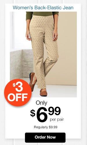 Women's Back-Elastic Jean