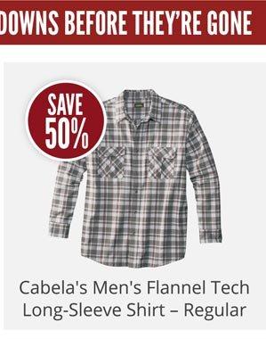 Cabela's Men's Flannel Tech Long-Sleeve Shirt