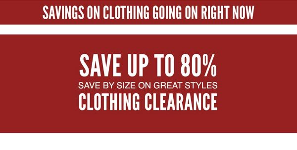 Save by Size Clothing