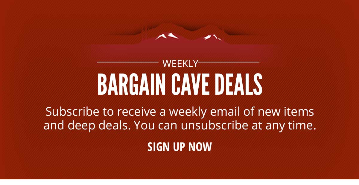Sign Up Now To Receive Weekly Bargain Cave Deals