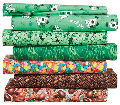 Easter and Saint Patrick's Day Fabrics.
