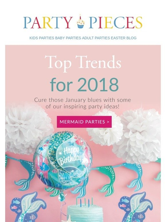 Party Pieces: Top party trends for 2018! | Milled
