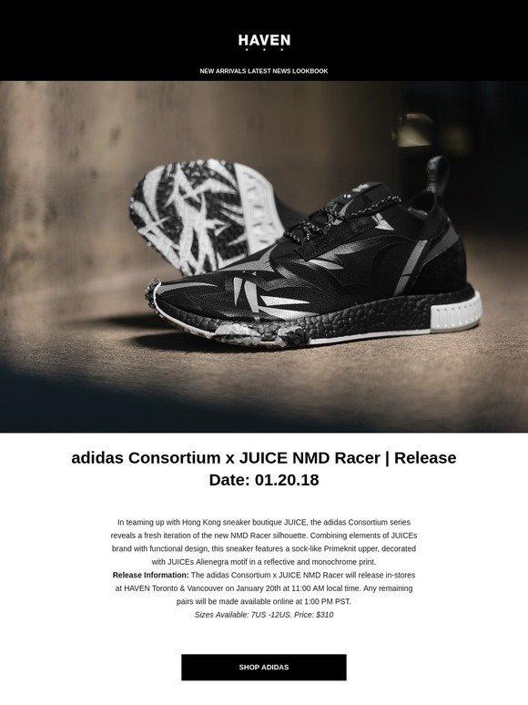 adidas Consortium x JUICE NMD Racer | Release Date: 01.20.18