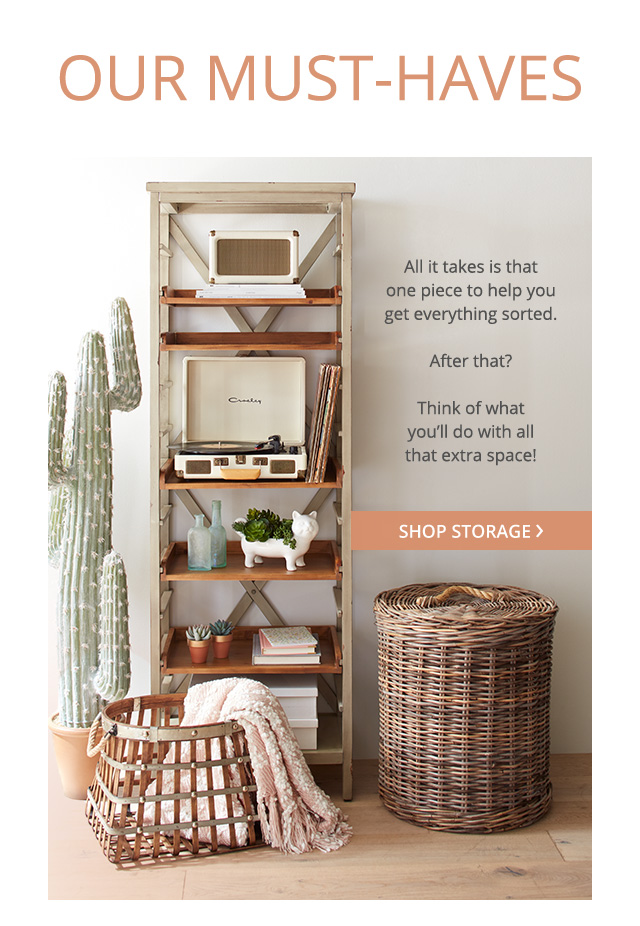 Our Must-Haves. Shop storage.