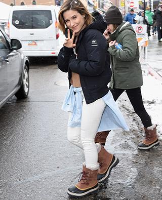 Sophia Bush in SOREL boots.