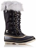 A mid-length snow boot.